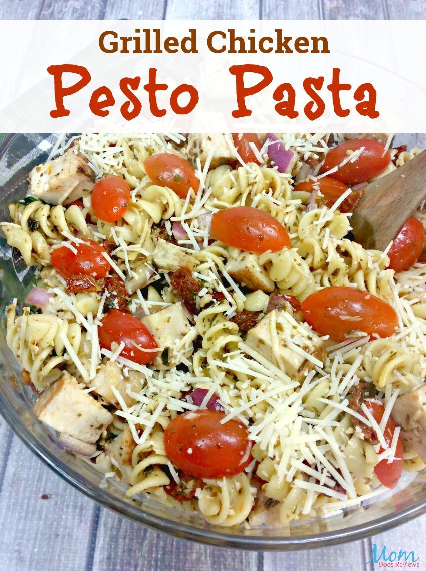 Grilled Chicken Pesto Pasta Salad #recipe #salad #chicken #pasta #Yummy #getinmybelly