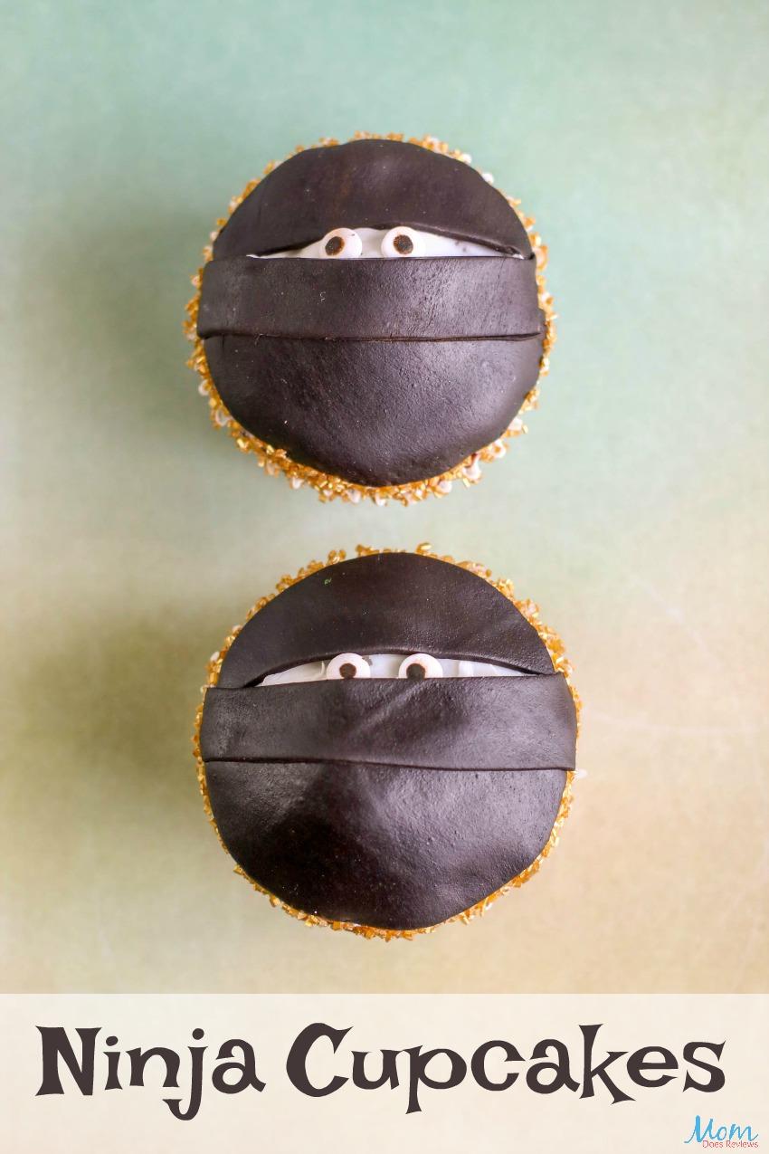 Ninja Cupcakes - An Easy Tutorial #cupcakes #funfood #decorating #birthdayparty #ninjas