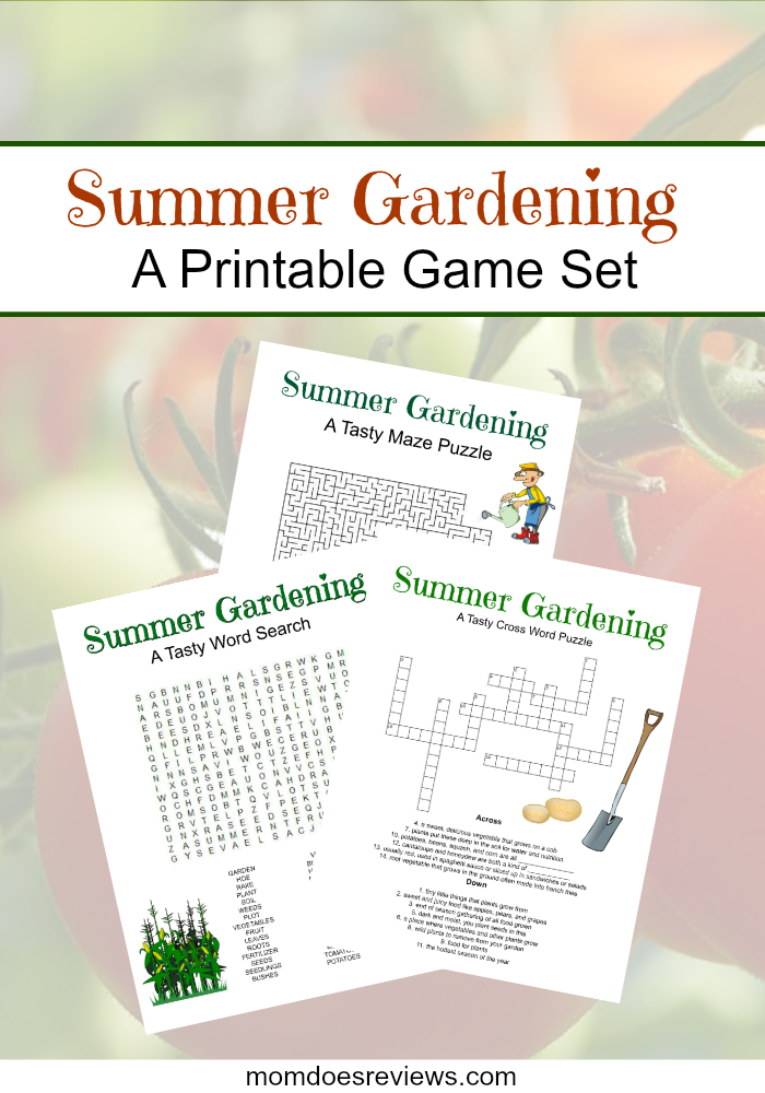 Summer Gardening Printable Game Set for Kids! #Printables