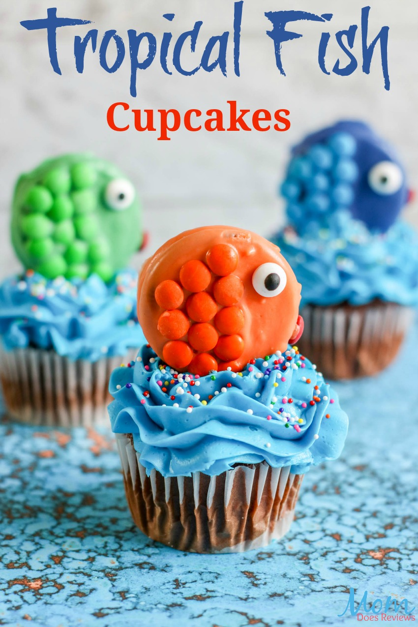 Tropical Fish Cupcakes Tutorial #diy #cupcakes #funfood #desserts #sweettreats #yummy