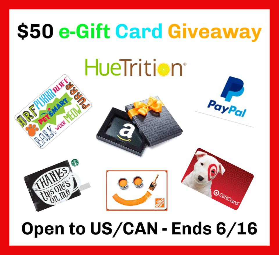 #Win $50 e-Card of Choice! US/CAN ends 6/16 #HueTrition