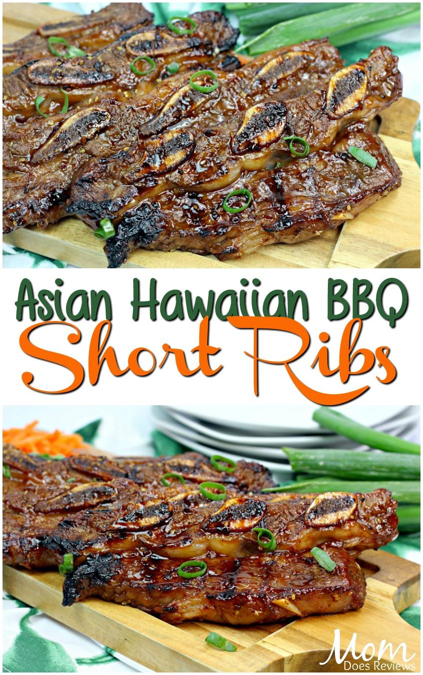 Asian Hawaiian BBQ Short Ribs #recipe #food #foodie #grilling #bbq #ribs #eatme