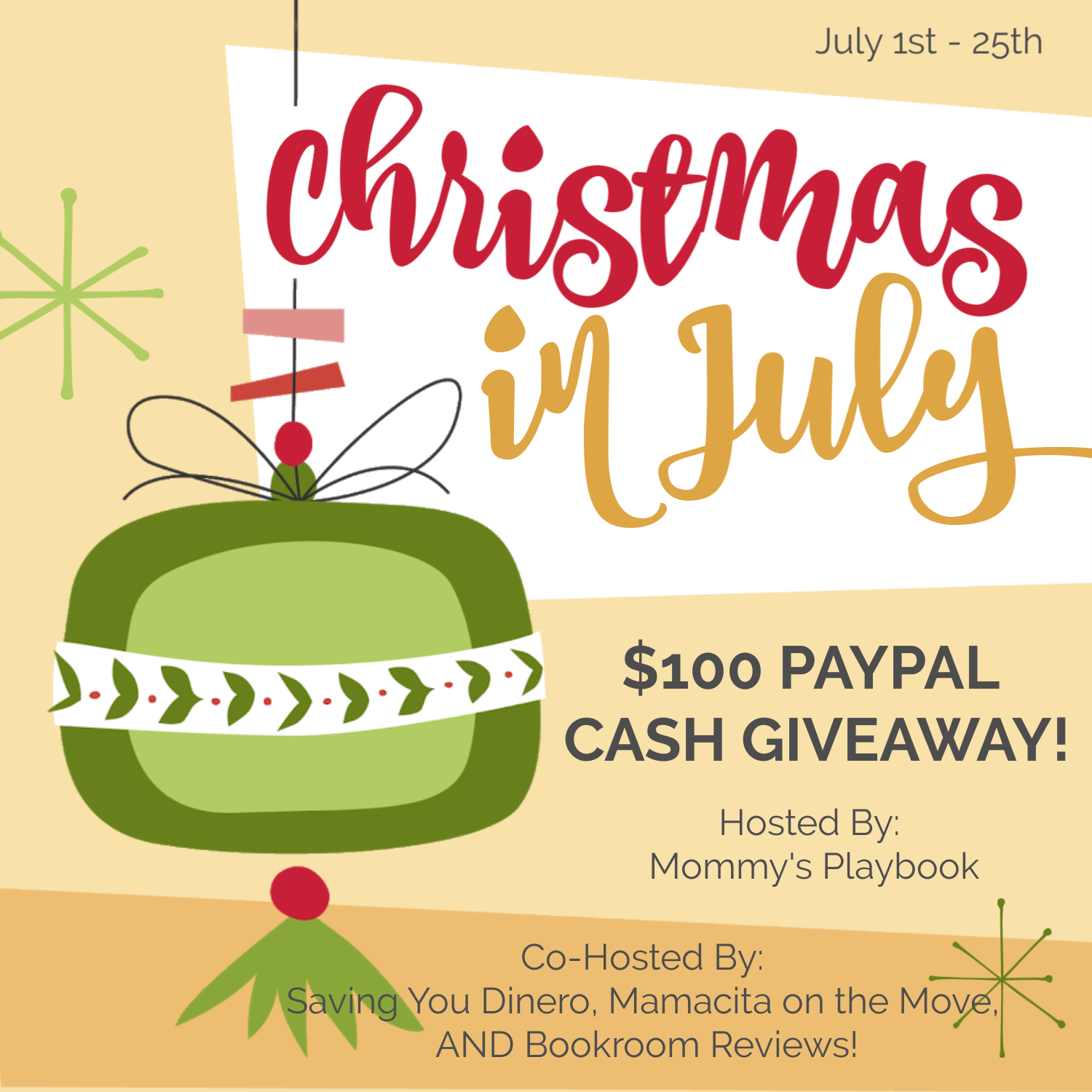 #Win $100 PayPal CASH! #ChristmasinJuly US, ends 7/25
