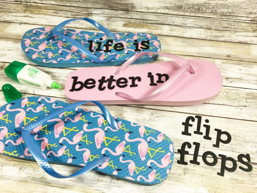 Fun Flip Flop Sign (a Dollar Store Craft)