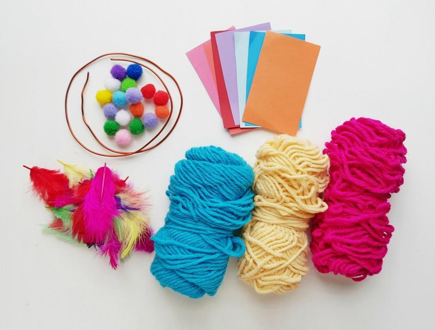Fun Dreamcatcher Craft supplies