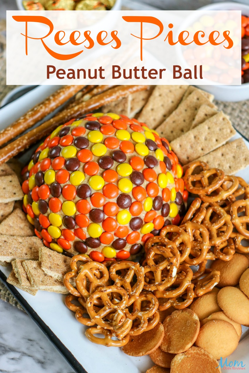 Reeses Pieces Peanut Butter Ball #dessert #peanutbutter #reesespieces #chocolate #sweets #getinmybelly