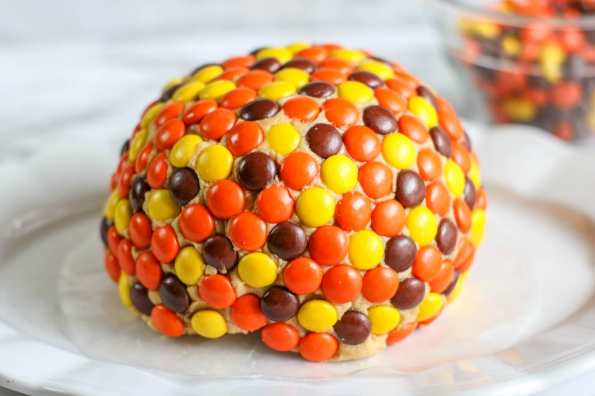 Reeses Peices Peanut Butter Ball process