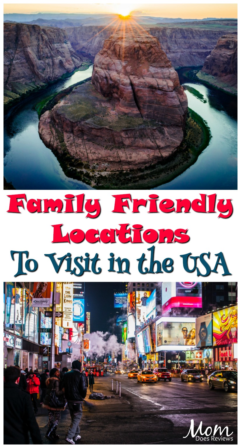 Family Friendly Locations To Visit In The USA #travel #usa #family #familyvacation