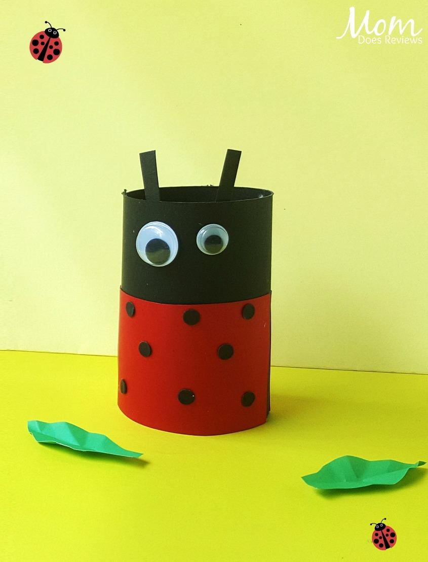 Ladybug Toilet Paper Roll Craft for Kids #craft #easycraft #funstuff