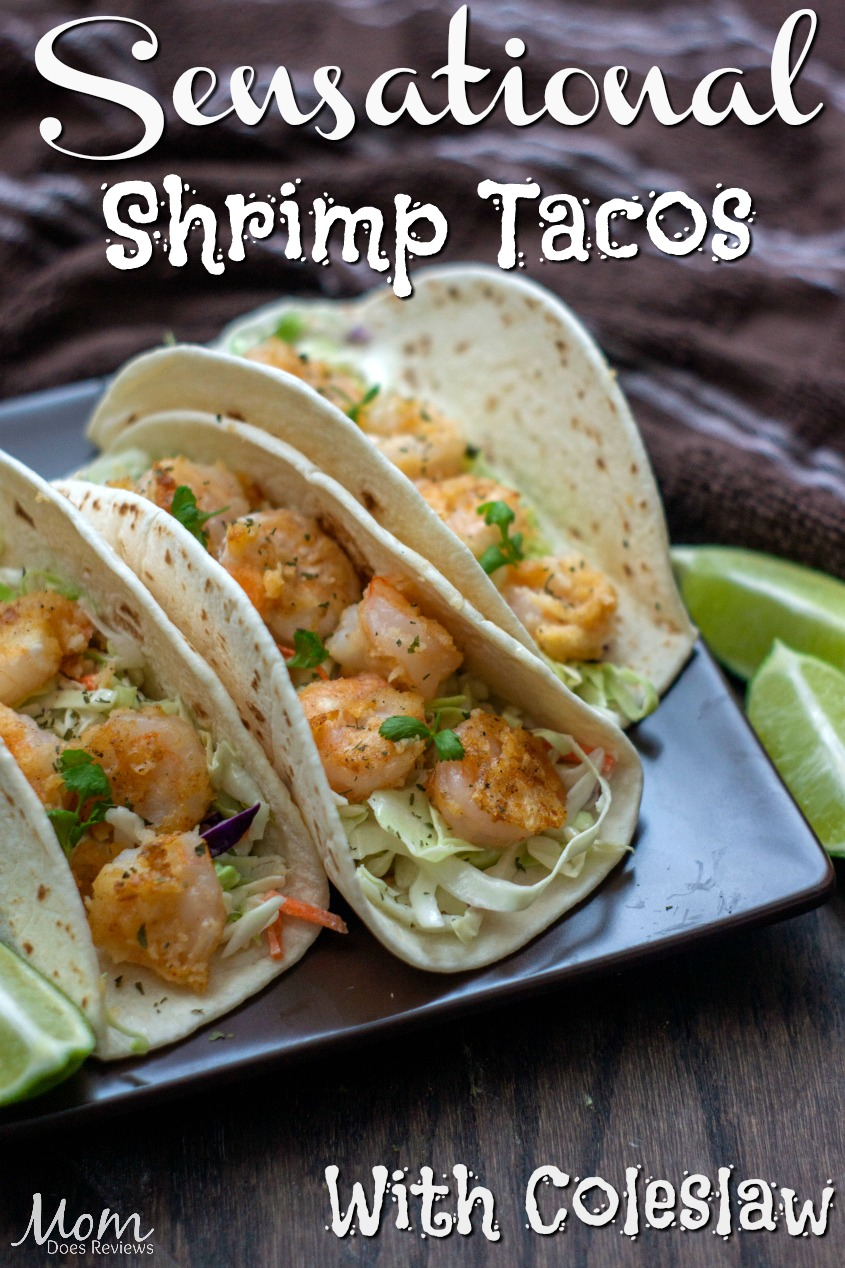 Sensational Shrimp Tacos with Coleslaw #food #foodie #recipe #seafood #yummy #tacos