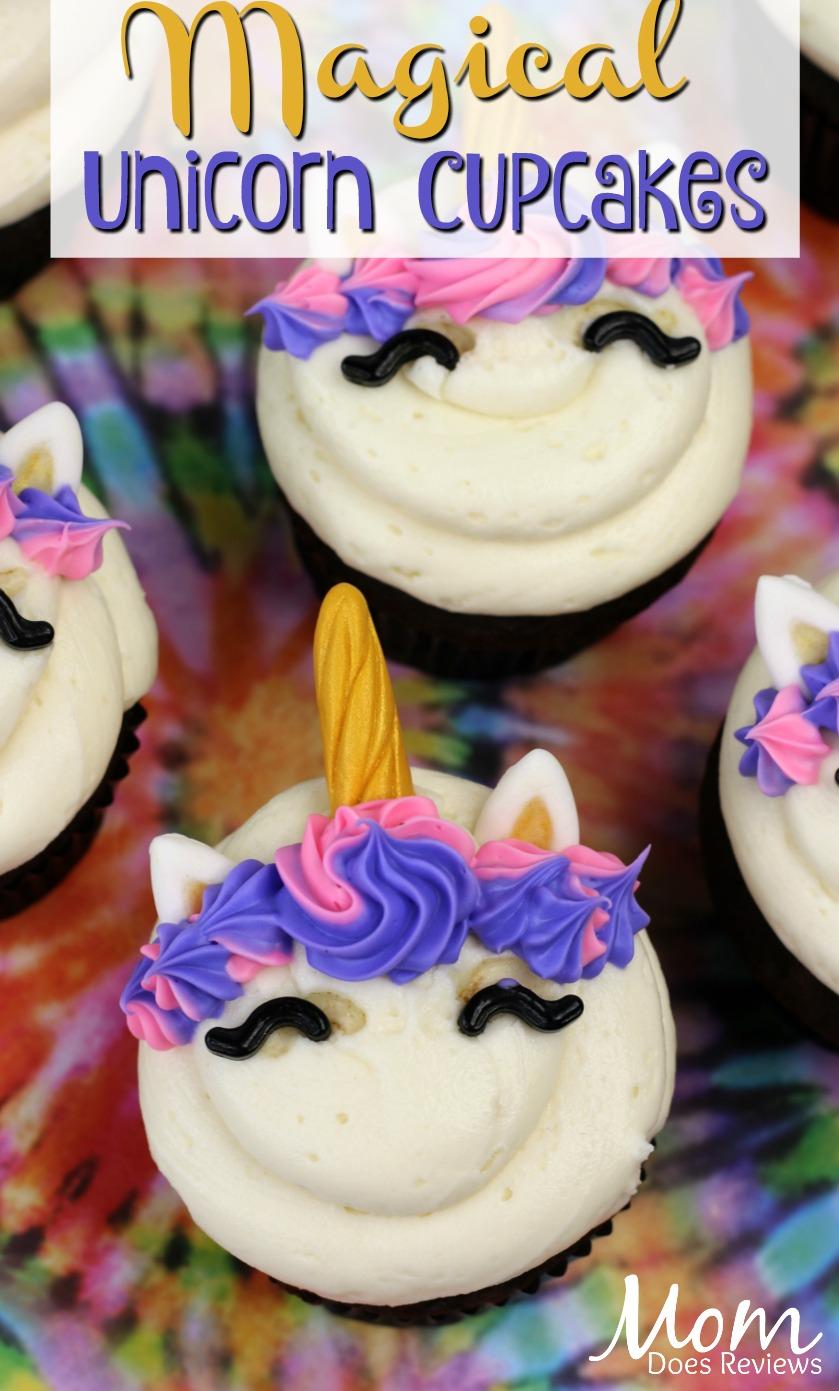 Magical Unicorn Cupcakes #unicorns #cupcakes #desserts #funfoods #foodie
