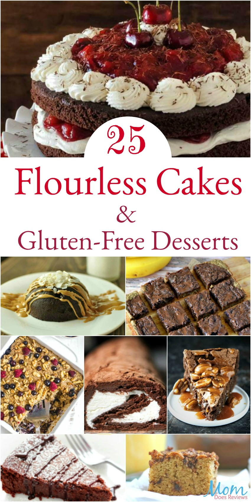 25 Flourless Cakes & Gluten-Free Desserts that will Make Your Mouth Water #desserts #recipes #glutenfree