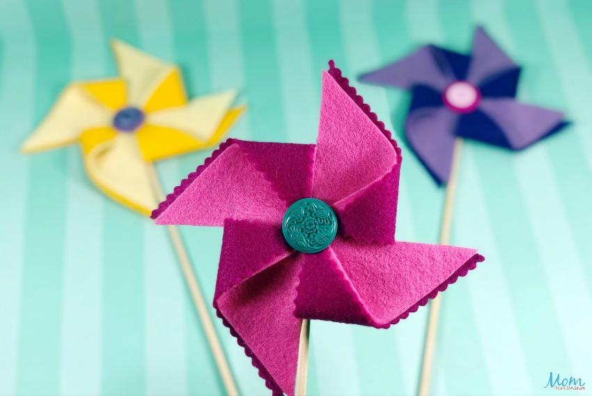 DIY Decorative Felt Pinwheels