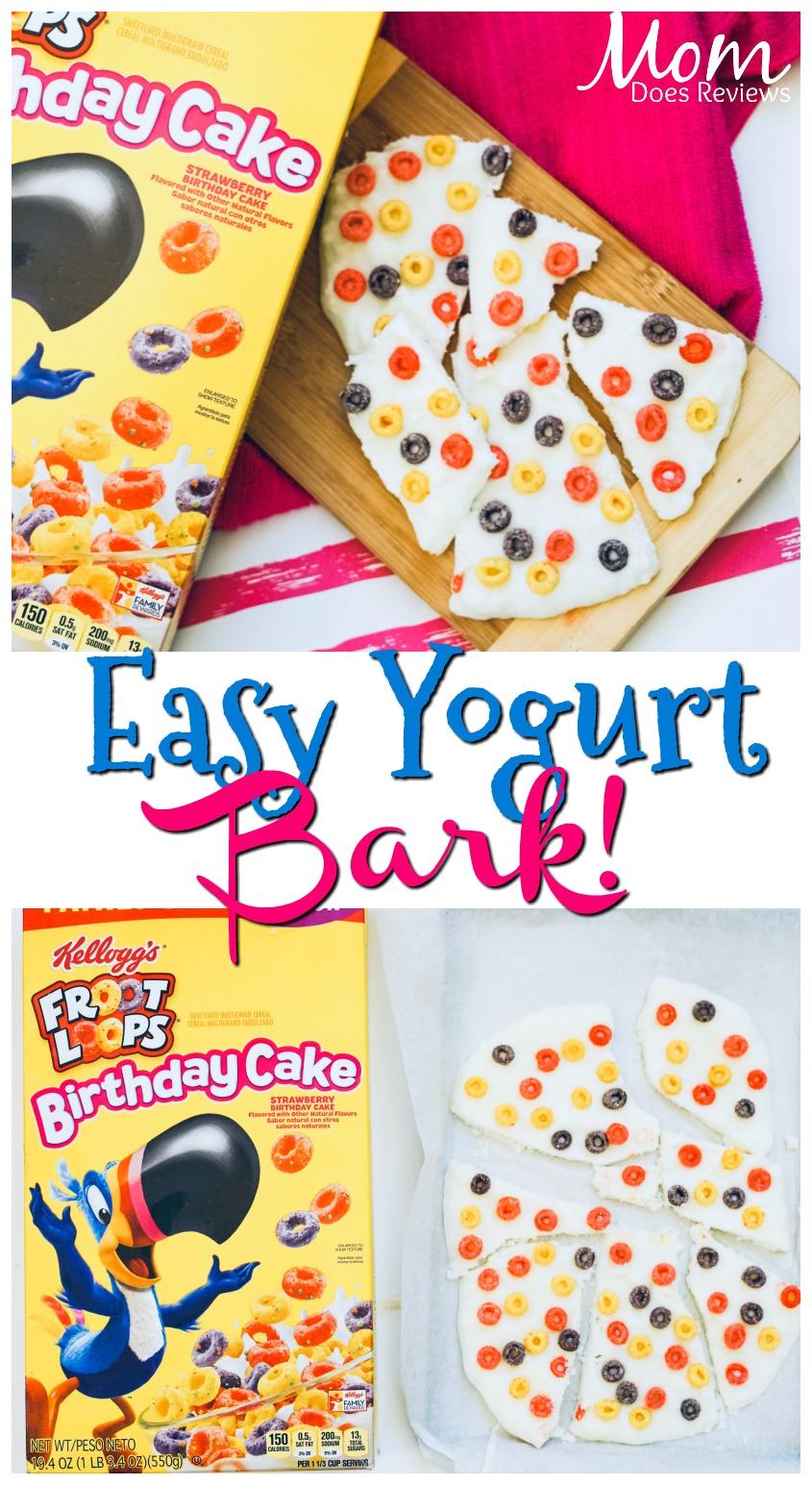 2 Ingredient Froot Loops Birthday Cake Yogurt Bark #funfood #sweettreat #easyrecipe