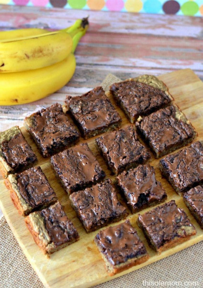 Gluten Free Chocolate Banana Bars