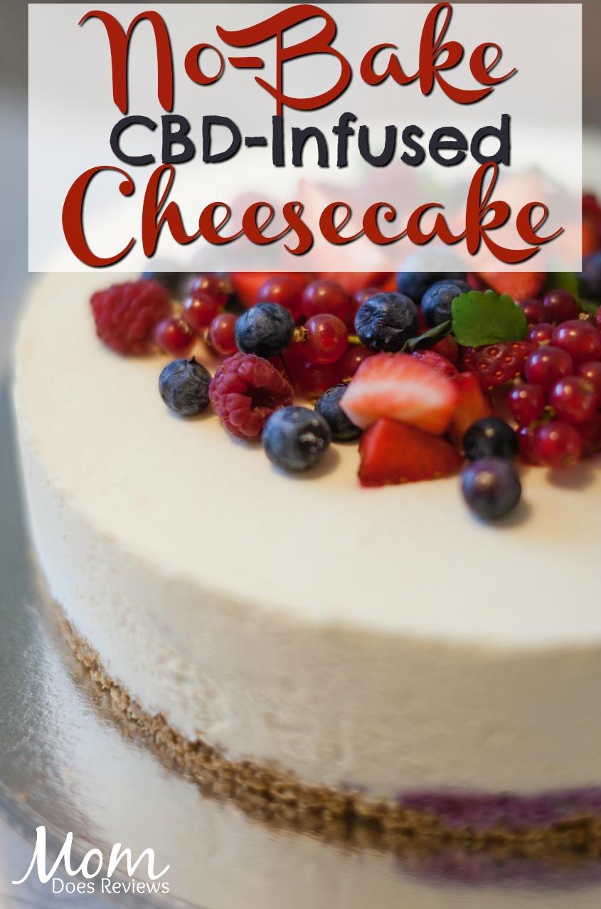 No-Bake CBD-Infused Cheesecake #dessert #cbd #foodie