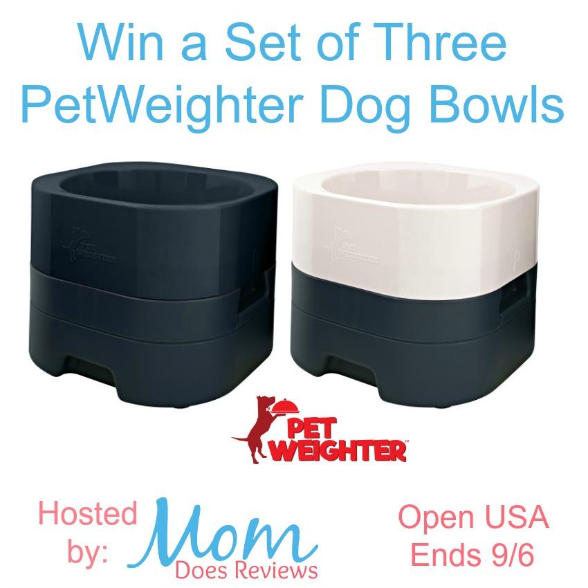 Win a Set of Three Pet Weighter Dog Bowls
