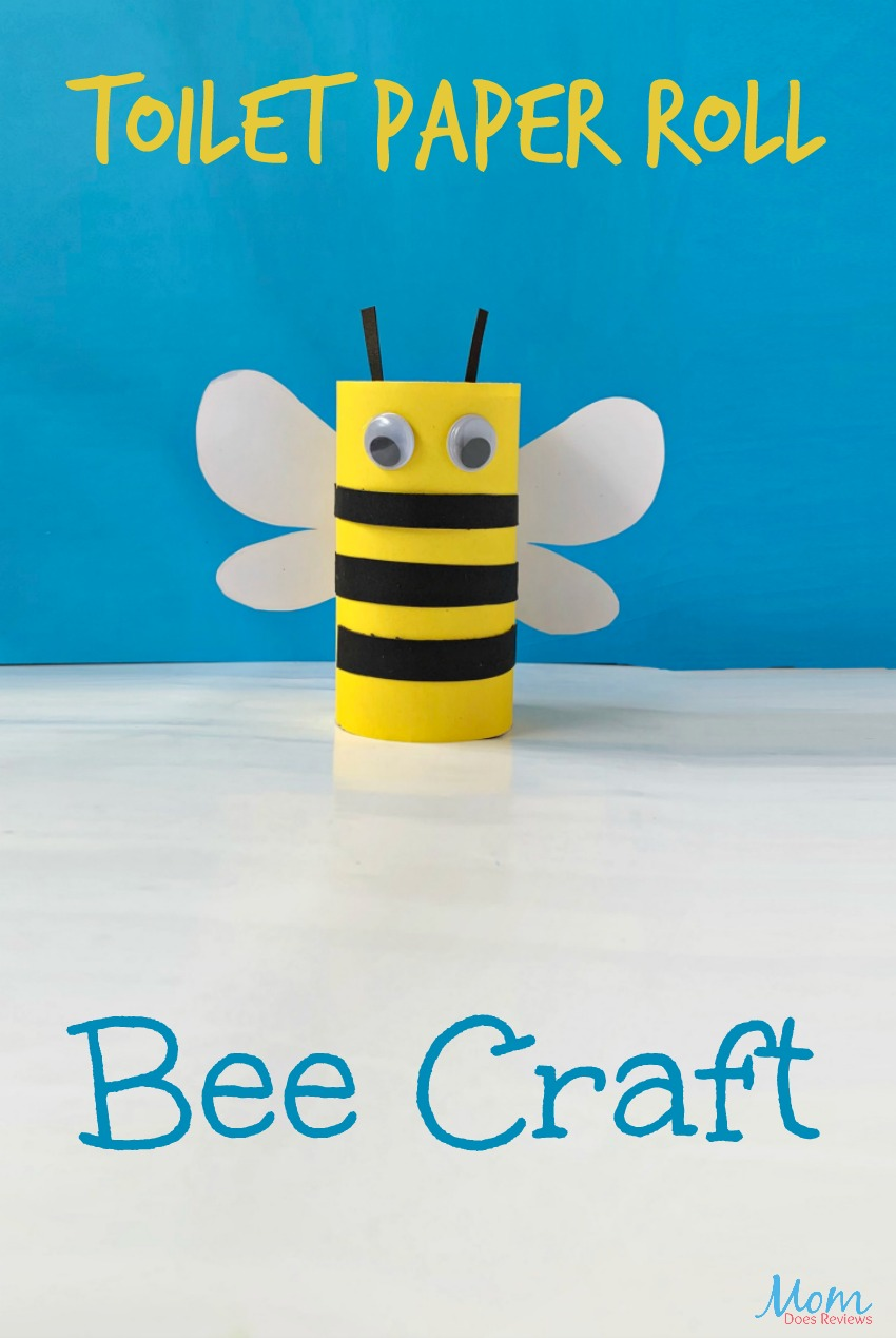 Toilet Paper Roll Bee Craft #easycrafts #funforkids #craft
