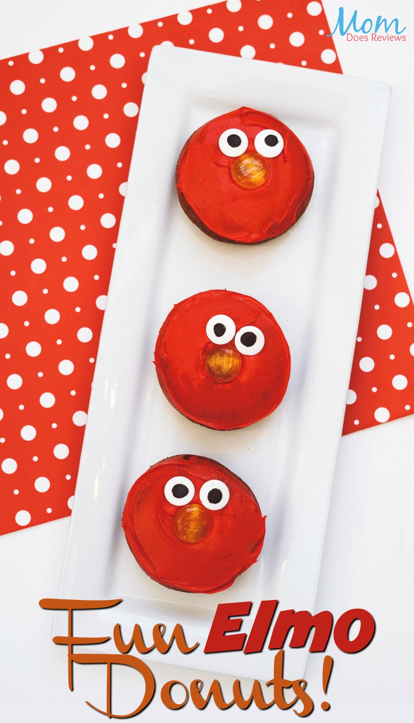 Make Your Own Elmo Donuts! #diy #donuts #kidmade
