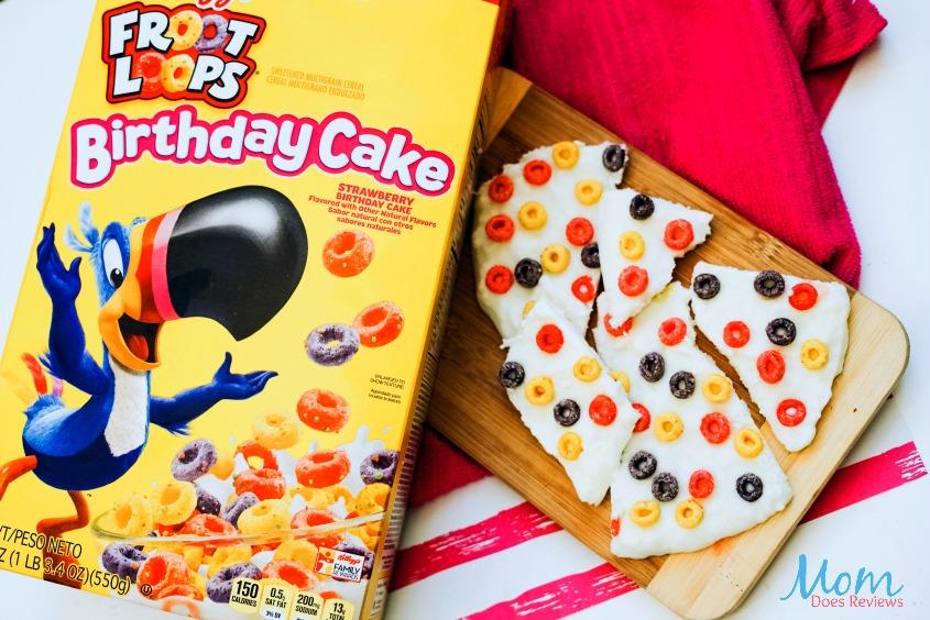2 Ingredient Froot Loops Birthday Cake Yogurt Bark