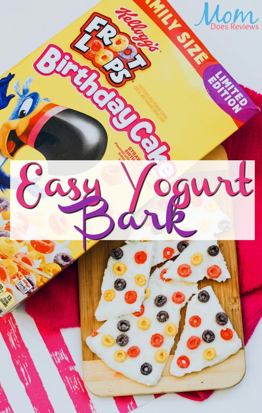 2 Ingredient Froot Loops Birthday Cake Yogurt Bark #funfood #sweettreat #recipe