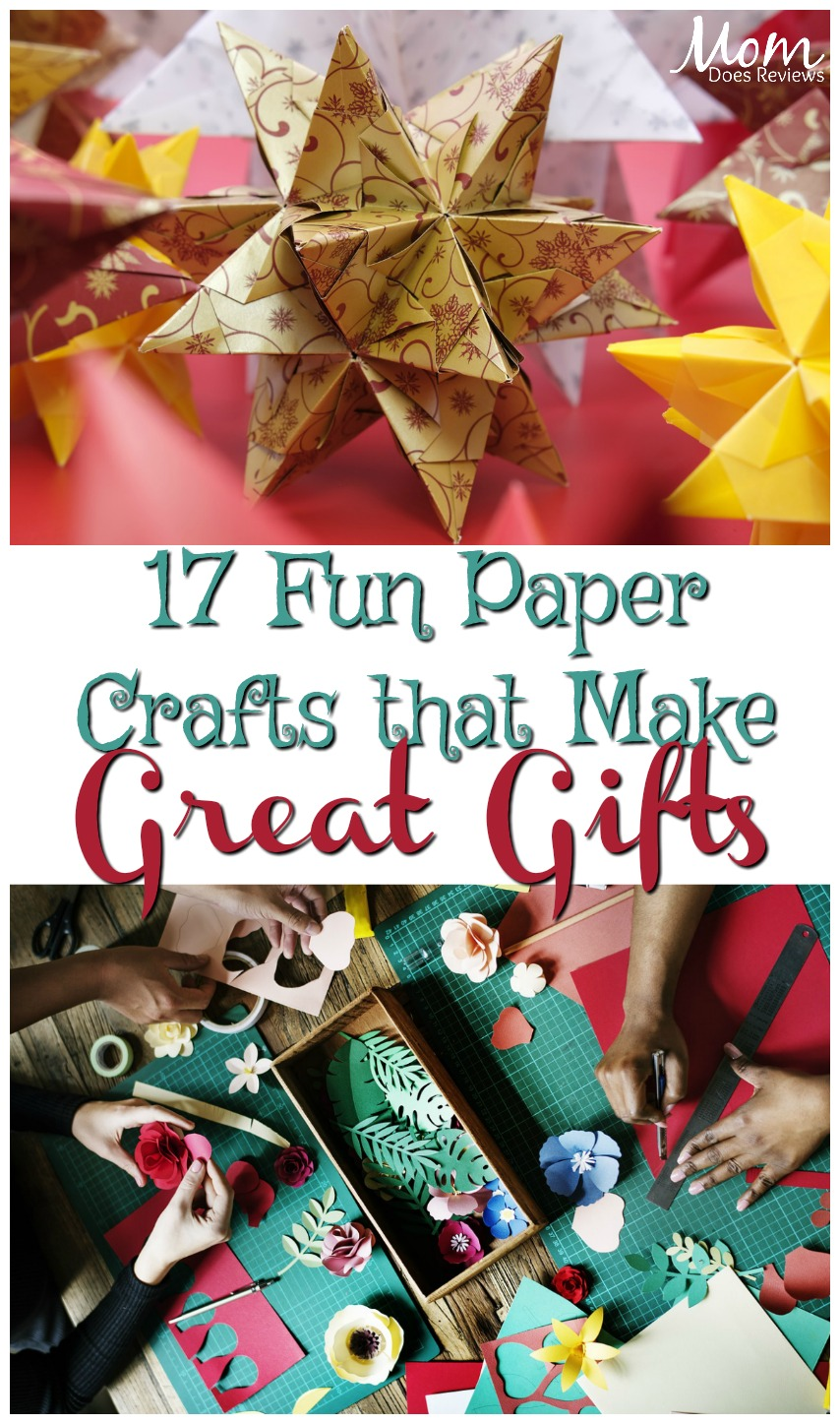 17 Fun Paper Craft Ideas that Make Great Gifts  #crafts #papercrafts #giftideas