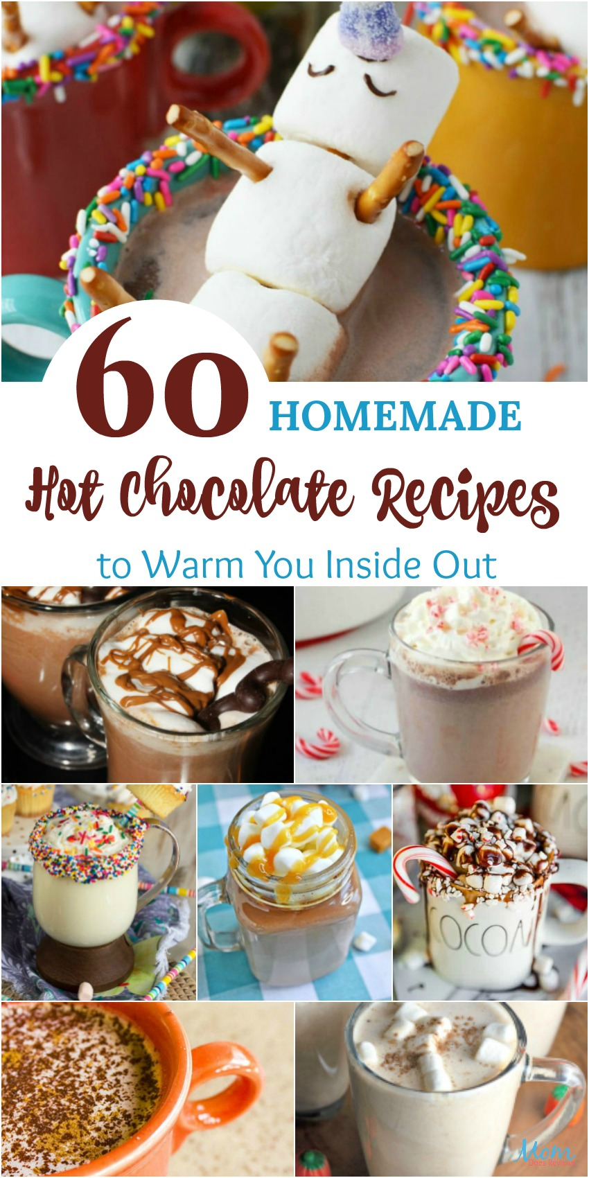 60 Homemade Hot Chocolate Recipes to Warm You Inside Out #hotchocolate #recipes #beverages