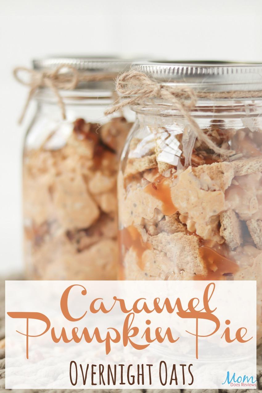 Caramel Pumpkin Pie Overnight Oats #Recipe #overnightoats #pumpkin #breakfast