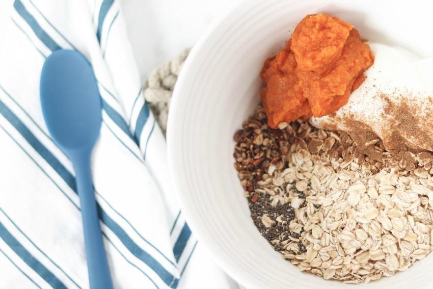 Caramel Pumpkin Pie Overnight Oats Recipe process