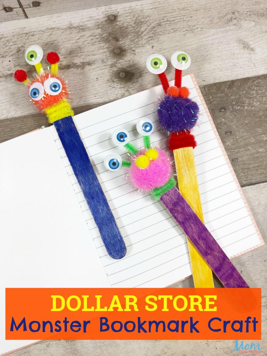 Dollar Store Bookmark Craft for Kids #diy #dollarstorecraft #funstuff