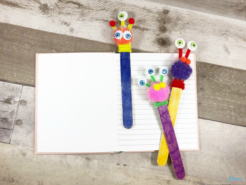 Dollar Store Bookmark Craft for Kids
