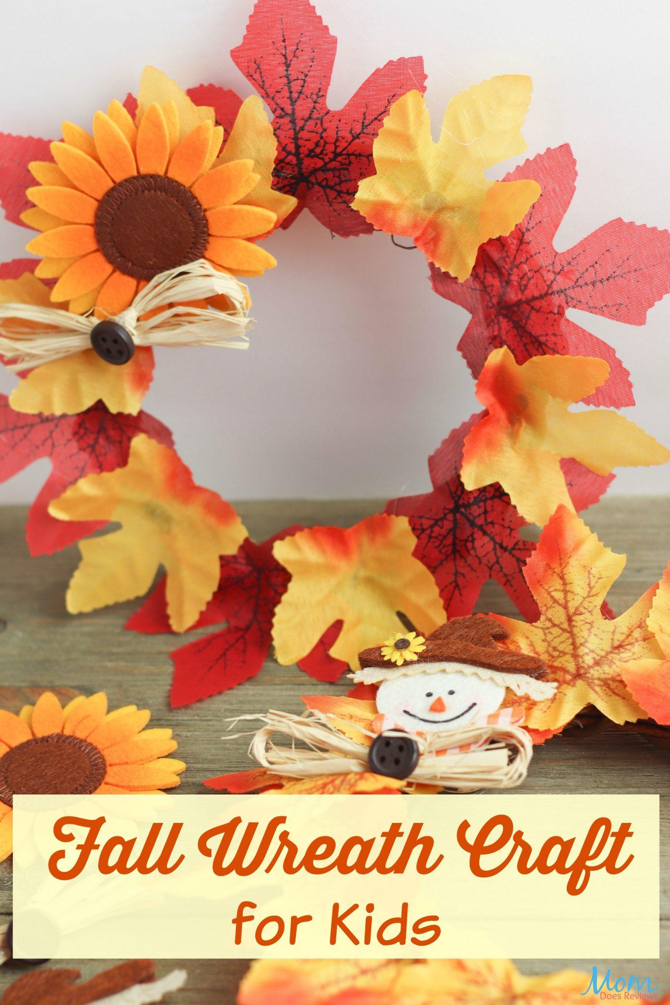 Fall Wreath Craft for Kids  #crafts #easycrafts #fallwreath #diy