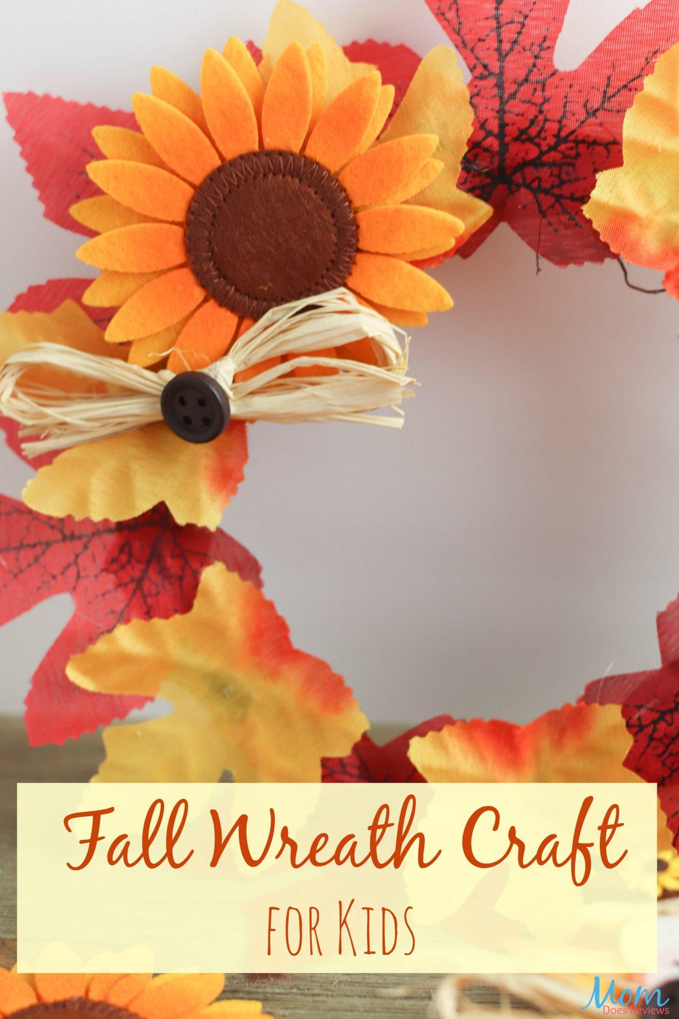 Fall Wreath Craft for Kids #crafts #easycrafts #fallwreath