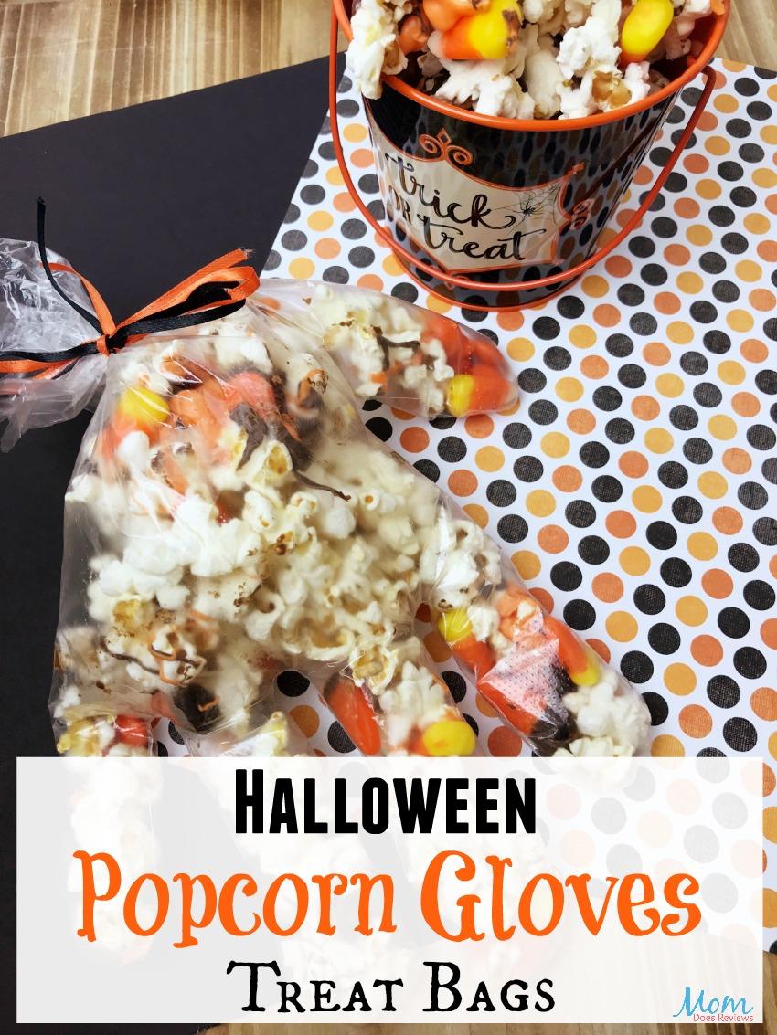 Spooky Halloween Popcorn Gloves  #halloween #funfood #popcorn