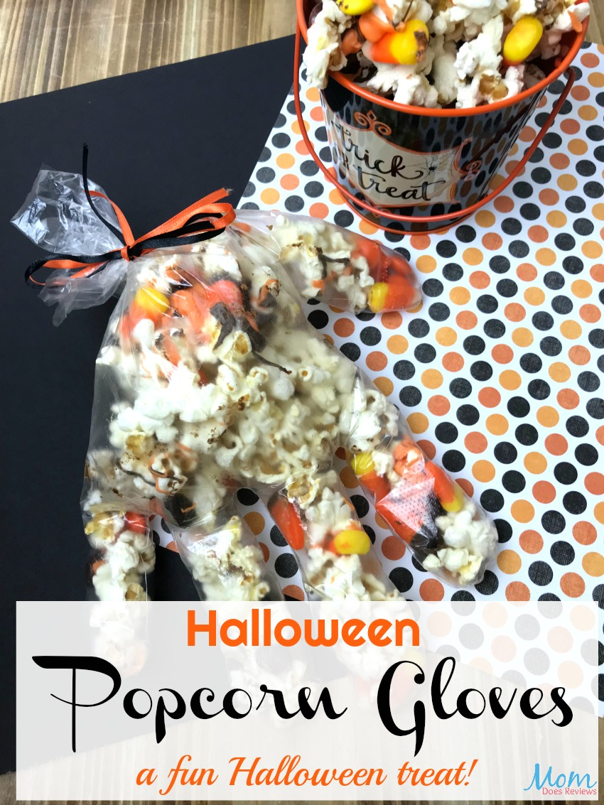 Spooky Halloween Popcorn Gloves for a fun Treat! #halloween #funfood #popcorn