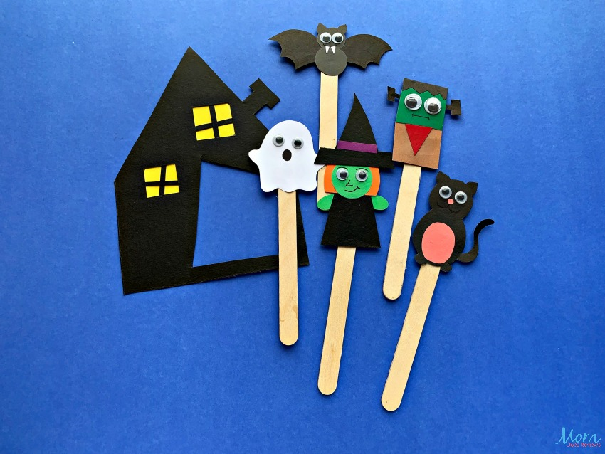 Adorable Halloween Puppet Craft for Kids