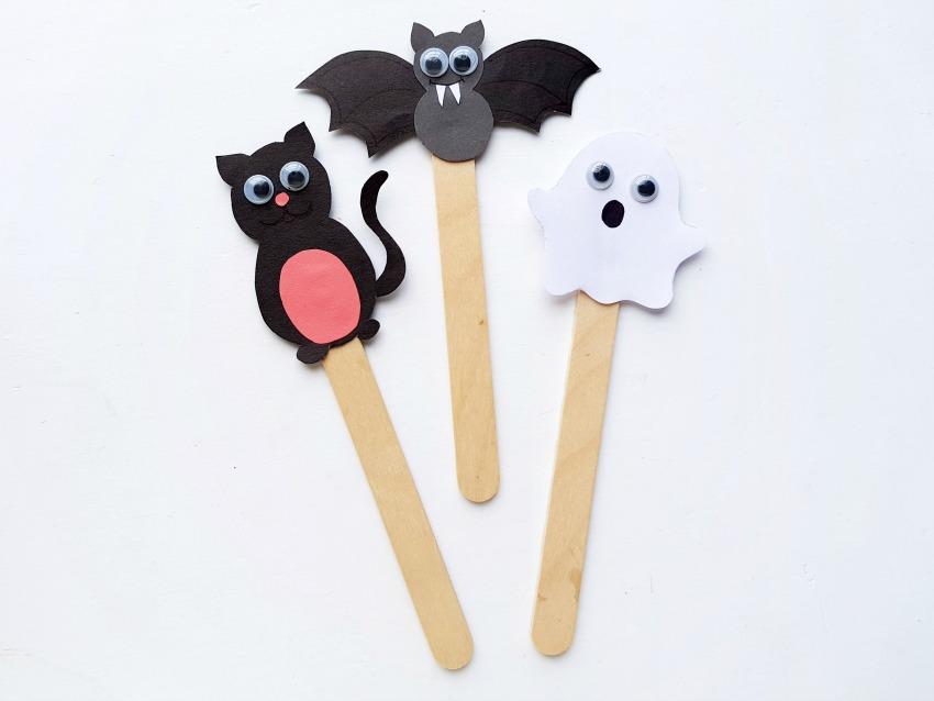 Halloween Puppet Craft process