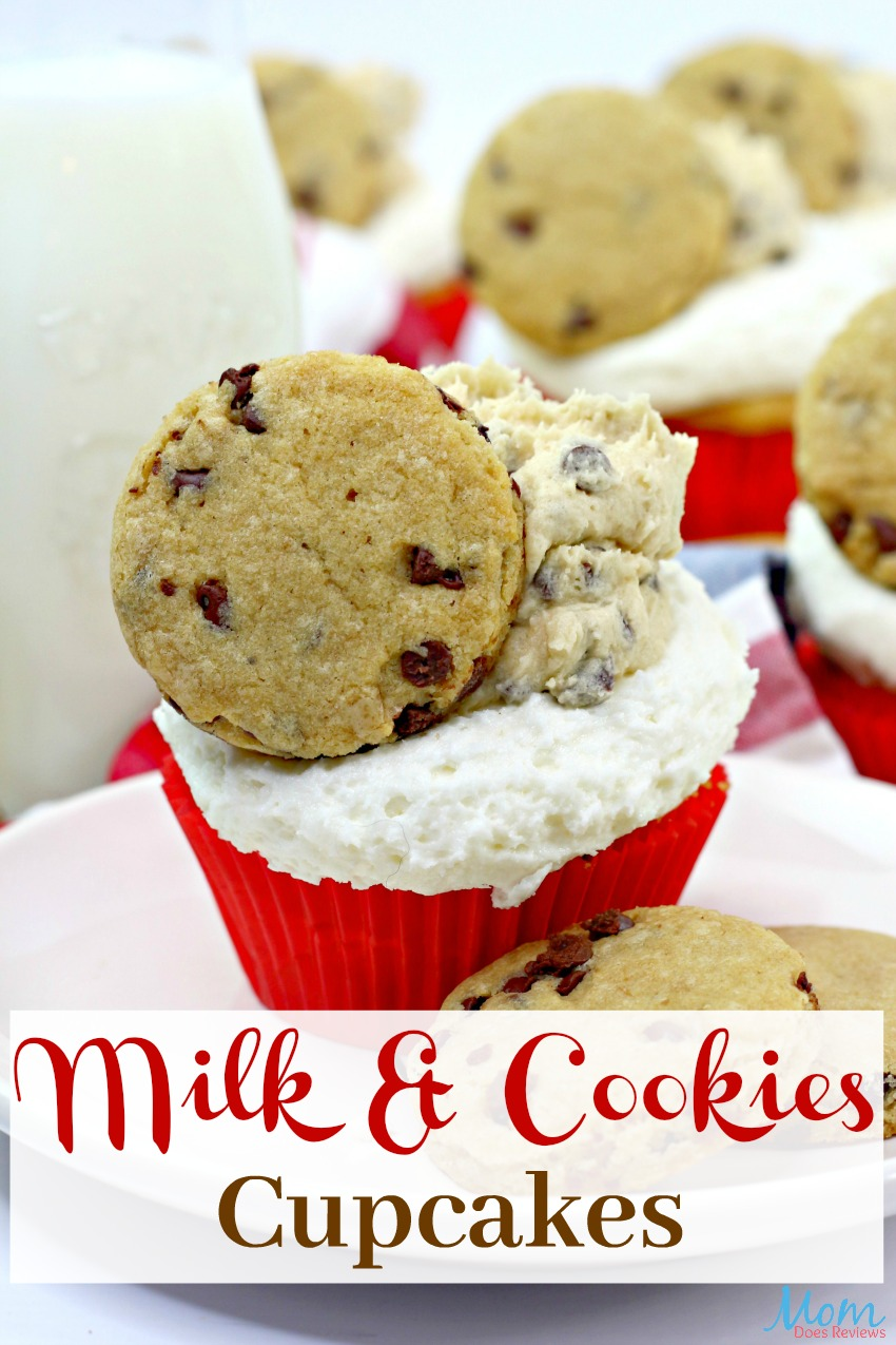Mouthwatering Milk & Cookies Cupcake #Recipe #cupcakes #cookiedough