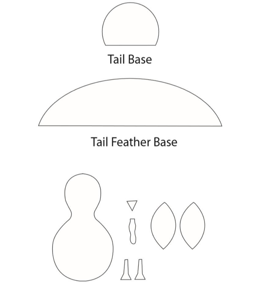 Paper Turkey Craft template