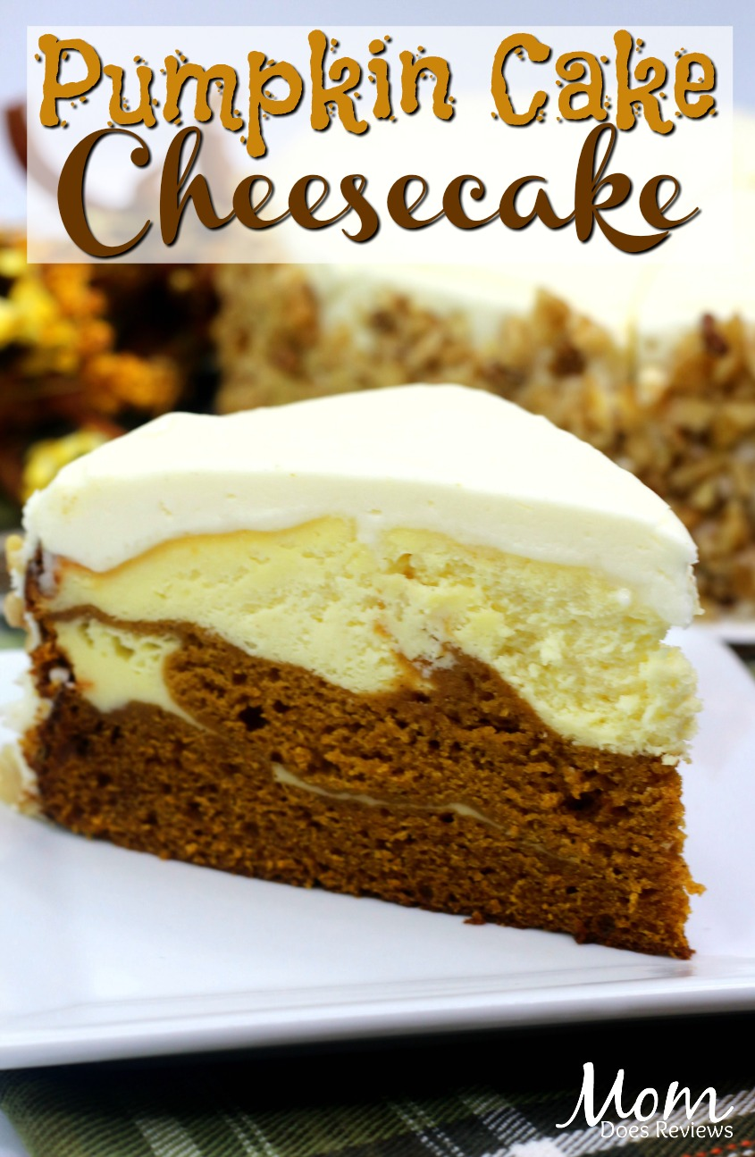 Pumpkin Cake Cheesecake #recipe #dessert #pumpkin #cheesecake