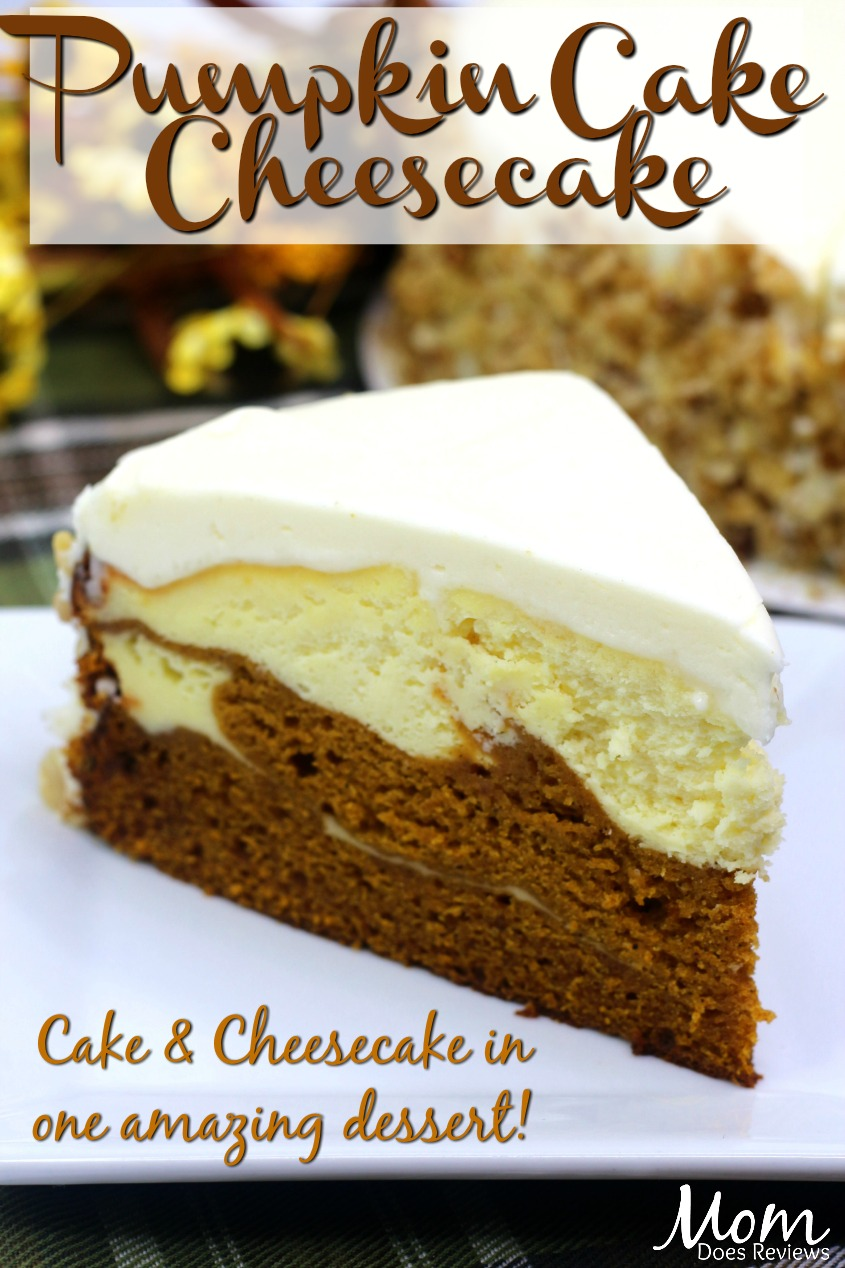 Pumpkin Cake Cheesecake #recipe #dessert #pumpkin