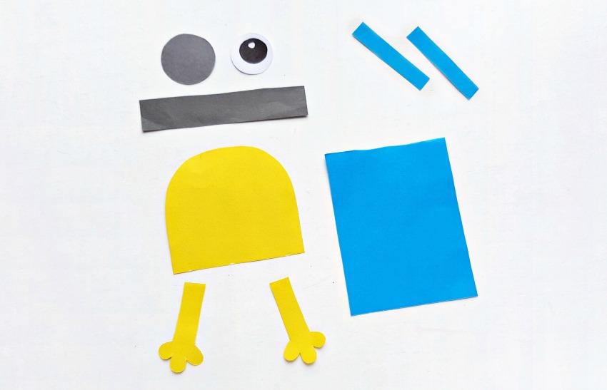 DIY Minion Hug Bookmarks process 1