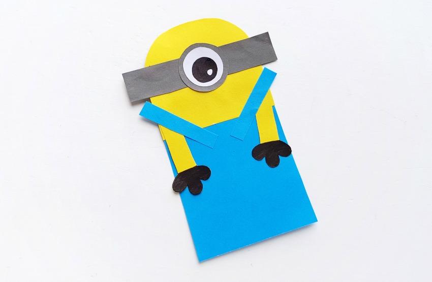 DIY Minion Hug Bookmarks process 5