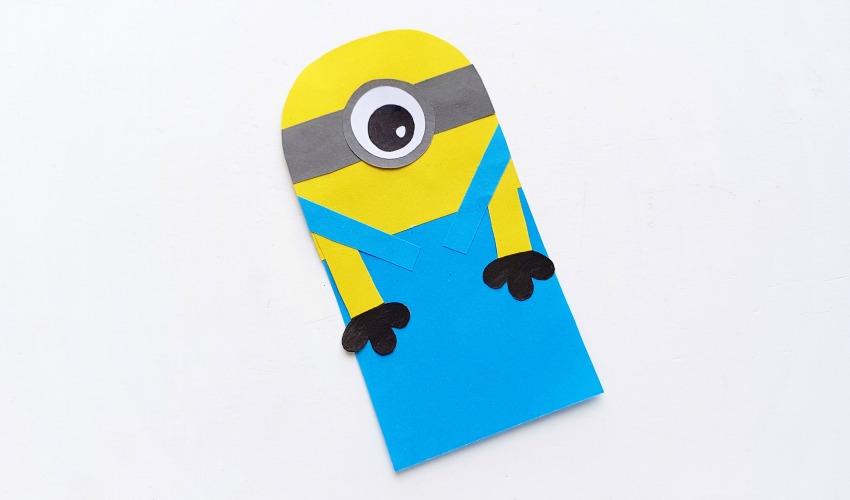 DIY Minion Hug Bookmarks process 6