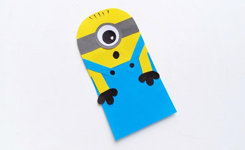 DIY Minion Hug Bookmarks process 7