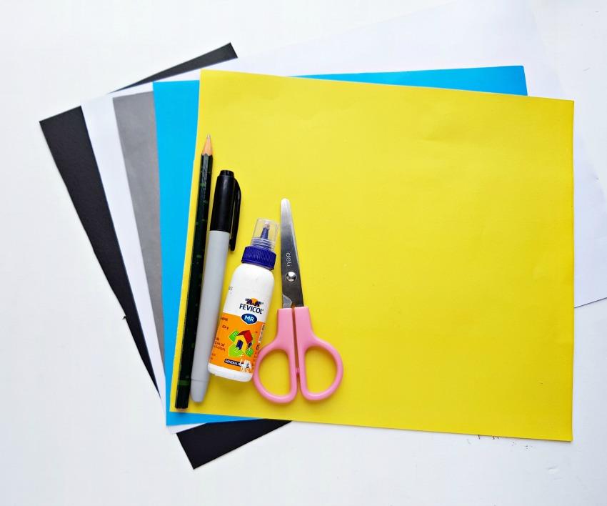 Minion Bookmark Craft supplies